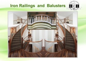 iron railings and balusters