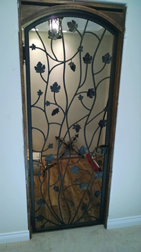 Custom Iron Wine Cellar Gates